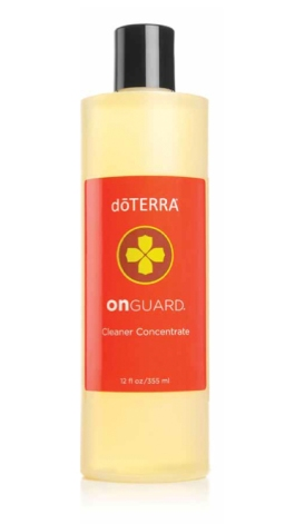 On Guard Cleaner Concentrate is designed to be the ideal natural cleaner. It is fortified with dōTERRA's proprietary On Guard Protective Blend of wild orange, clove bud, cinnamon, eucalyptus, and rosemary CPTG essential oils. This powerful essential oil blend is combined with plant-based derivatives that provide a non-toxic and biodegradable way to clean and eliminate odors. It is safe for your family as well as the environment. The multi-purpose capabilities of On Guard Cleaner Concentrate make it perfect to expertly clean hard surfaces in the kitchen, bathroom, or any room leaving behind a clean and invigorating scent.